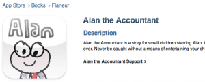 Alan the Accountant iphone children's book