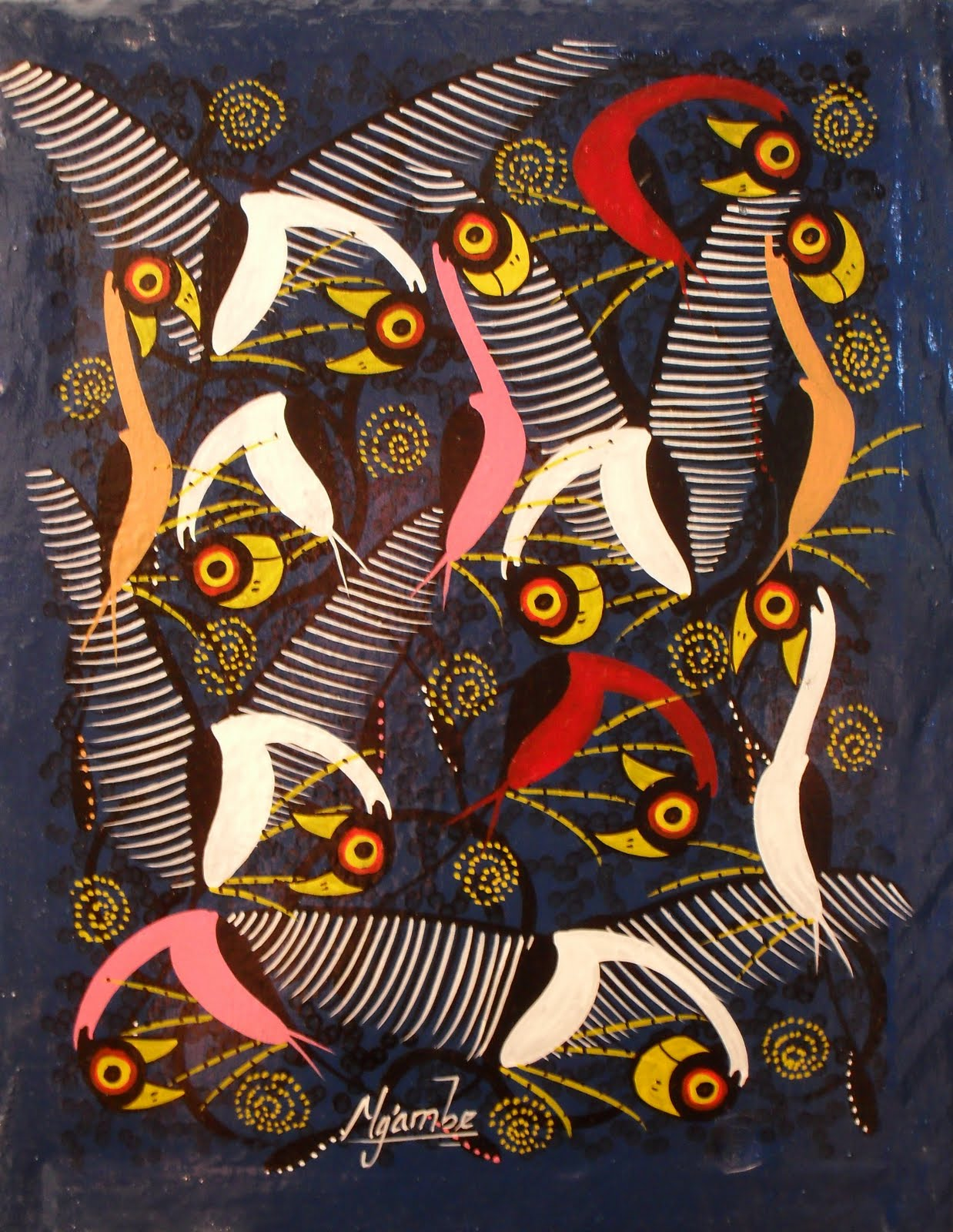 tingatinga Tinga tinga is an art movement from tanzania that originated in the 1970s from the art style of the late edward saidi tingatinga today, hundreds of artists produce work inspired by his vividly coloured paintings of animals, cultural narratives and elaborate designs against flat colour backgrounds.