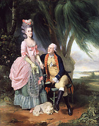 "Johan Zoffany, ""John Wilkes and his Daughter Mary (Polly)"" 1779"
