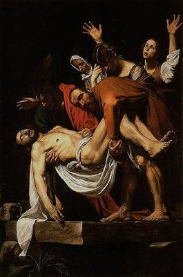 398px Caravaggio La Deposizione di Cristo