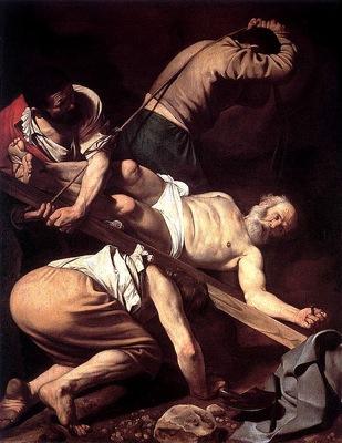 463px Caravaggio Crucifixion of Peter
