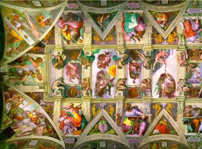 800px Sistine Chapel ceiling left