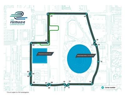 2 Formula E Beijing GP circuit