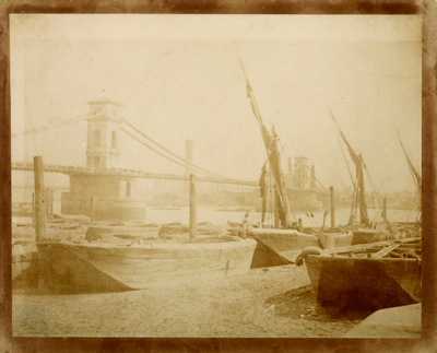 William Henry Fox Talbot  Old Hungerford Bridge c1845  IN4788
