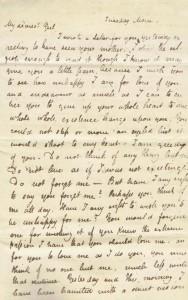 John Keats' letter to Fanny Brawne, May 1820