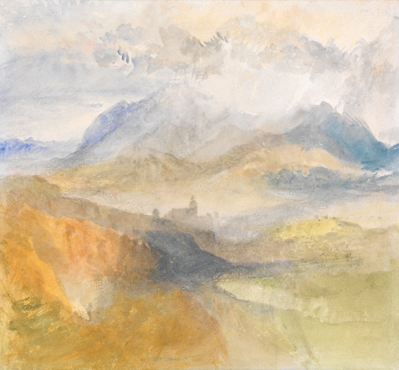 A great late Turner watercolour A view over the val d Aosta by J M W Turner 1836 Lowell Libson